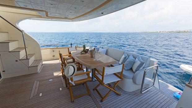 alfea motor yacht aft deck
