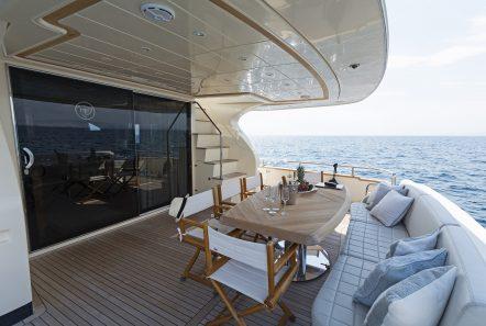 alfea motor yacht aft deck (3) min -  Valef Yachts Chartering - 1420