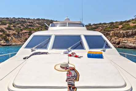 efmaria motor yacht sun beds fore (2) min -  Valef Yachts Chartering - 1521