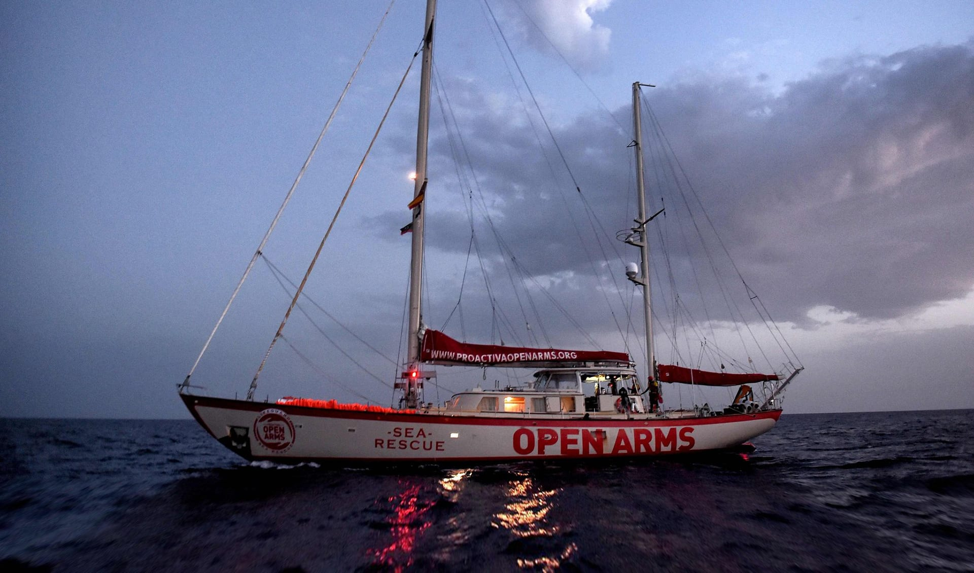 a rescue boat in the aegean
