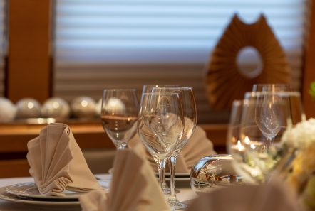 celia motor yacht dining detail min -  Valef Yachts Chartering - 1324