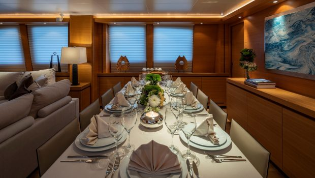 celia motor yacht dining views (1) min -  Valef Yachts Chartering - 1322