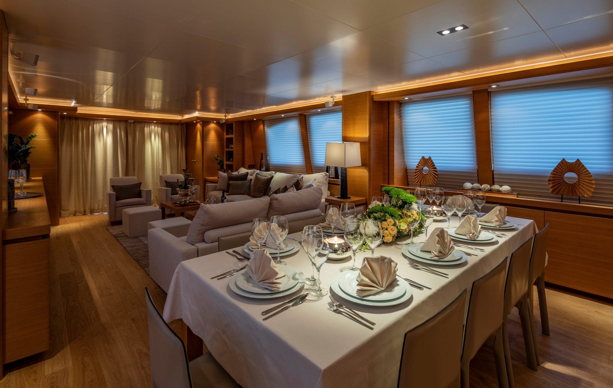 celia motor yacht dining views (2) min -  Valef Yachts Chartering - 1321