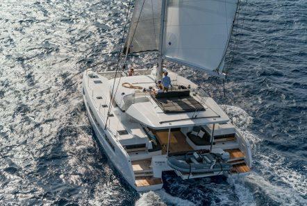 happy feet motor yacht aerial min -  Valef Yachts Chartering - 1379