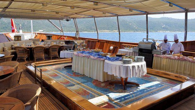 christina o megayacht buffet aft deck min -  Valef Yachts Chartering - 1190