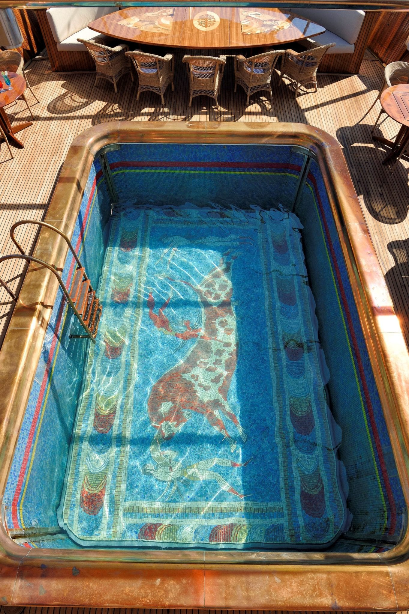 christina o megayacht swimming pool min -  Valef Yachts Chartering - 1168