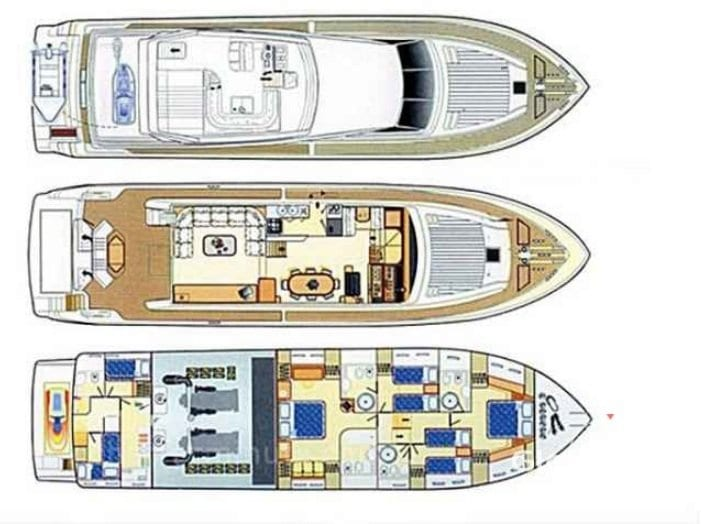 Avra ferretti layout -  Valef Yachts Chartering - 1033