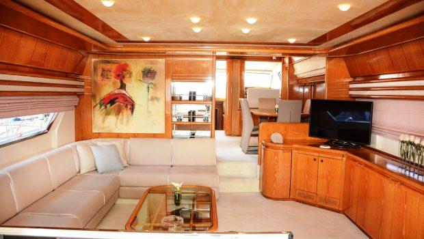 avra motor yacht salon (1) min -  Valef Yachts Chartering - 1060