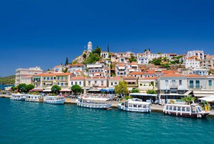 Fabulous Poros island at the port