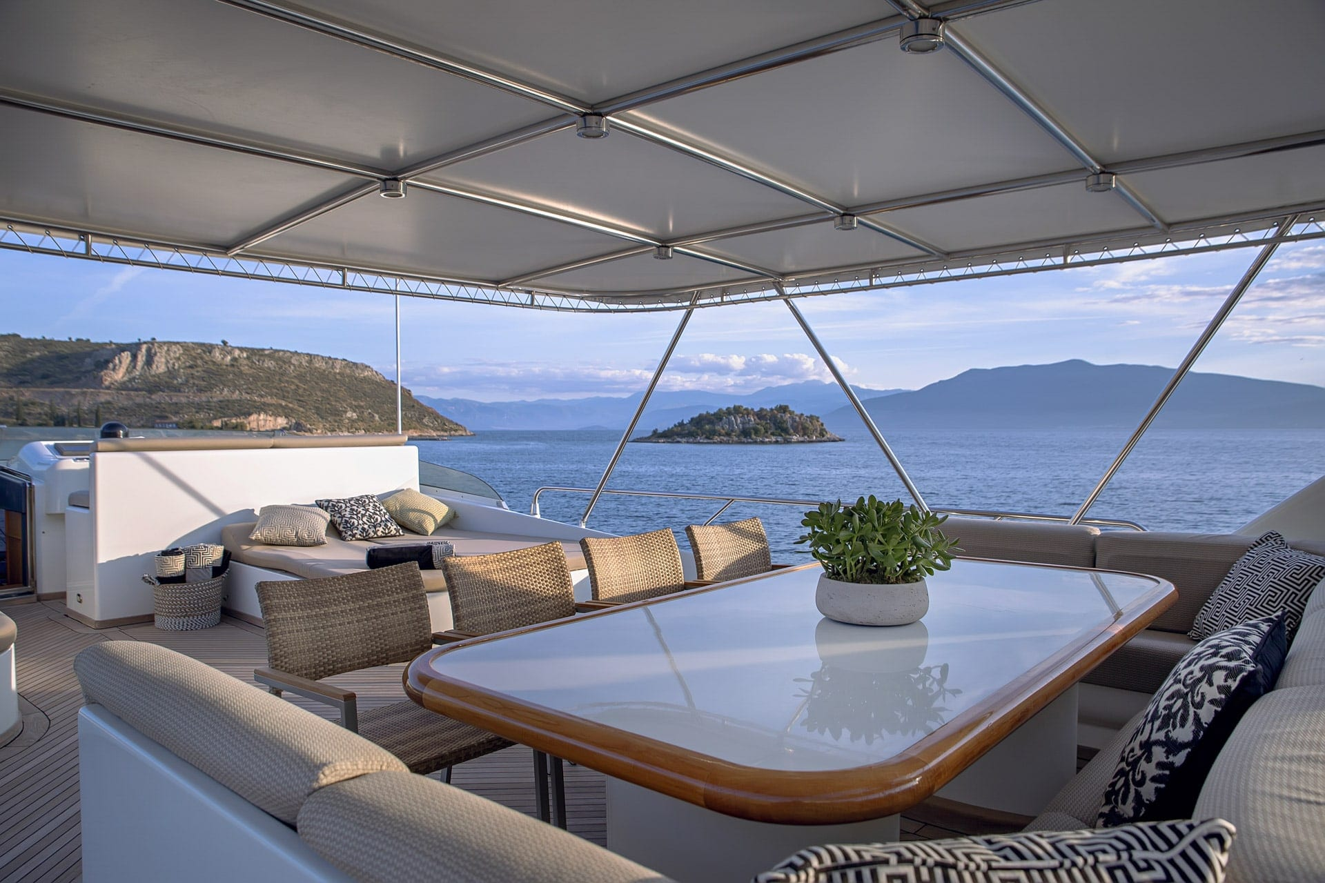 aquila motor yacht sun deck (2) min -  Valef Yachts Chartering - 1004