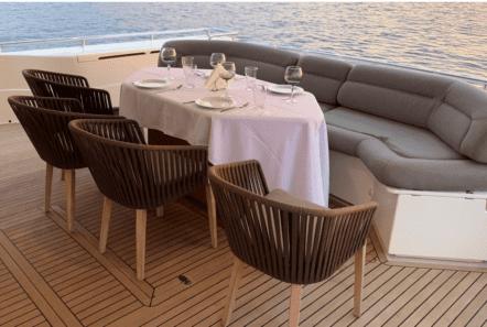 armonia motor yacht ferretti aft deck dining (1) min -  Valef Yachts Chartering - 1017