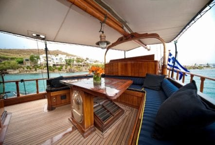 prince motor sailer aft deck (2) -  Valef Yachts Chartering - 0884