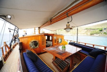 prince motor sailer aft deck (3) -  Valef Yachts Chartering - 0883