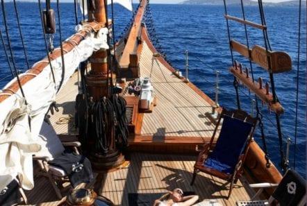 prince motor sailer deck (1) -  Valef Yachts Chartering - 0919