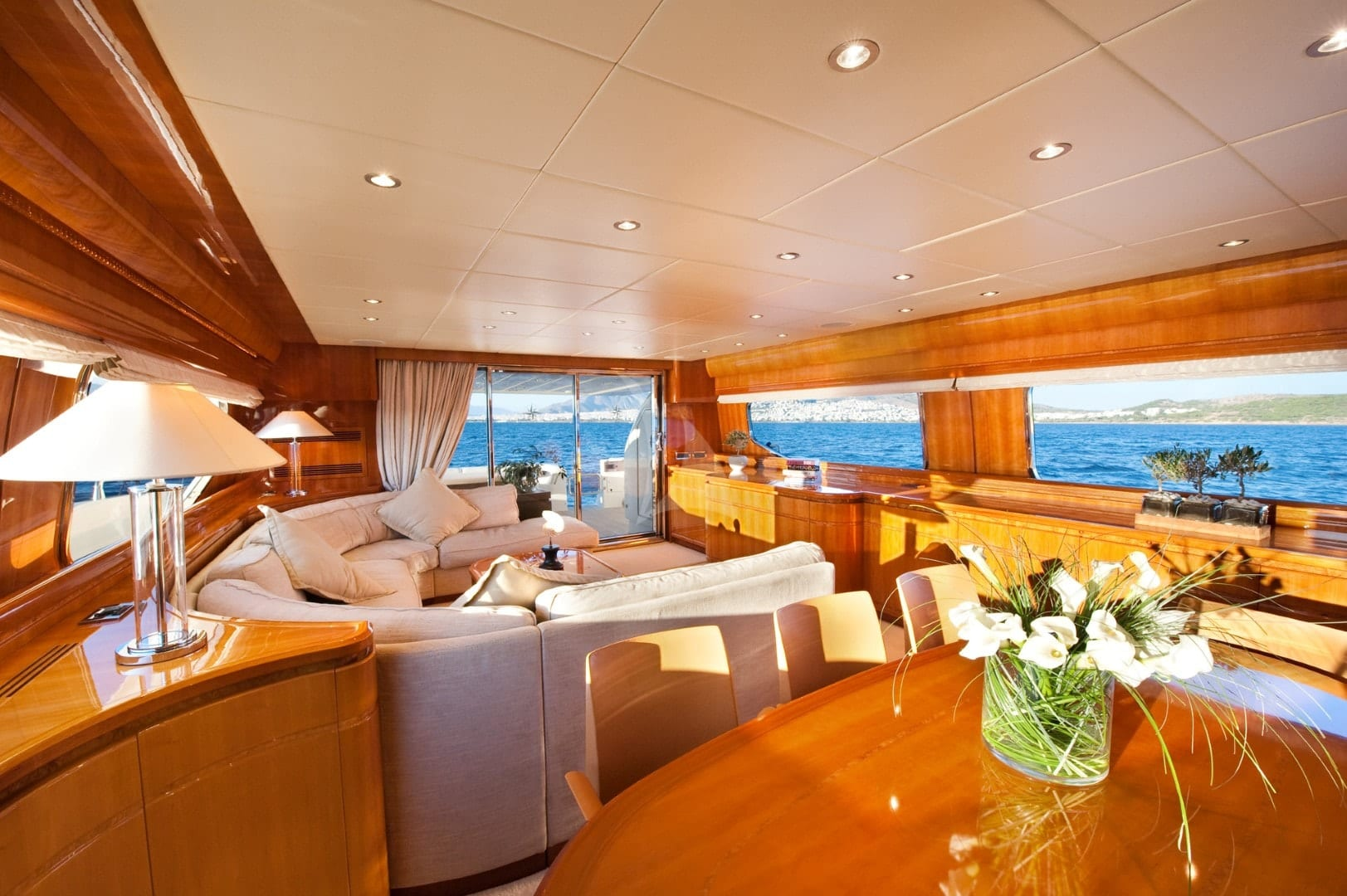 dilias motor yacht dining min -  Valef Yachts Chartering - 0785