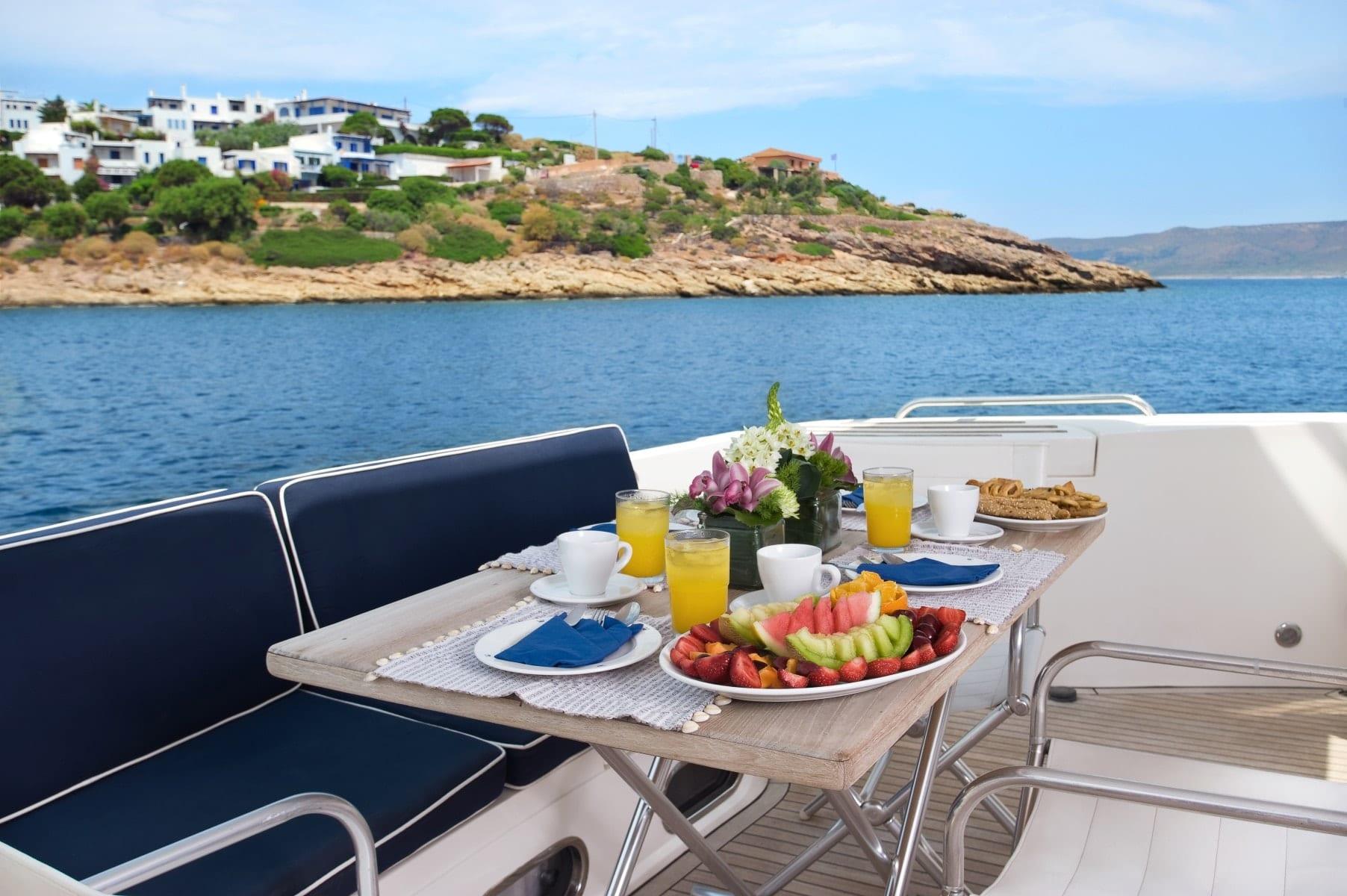 fast break motor yacht aft table (4) min -  Valef Yachts Chartering - 0871