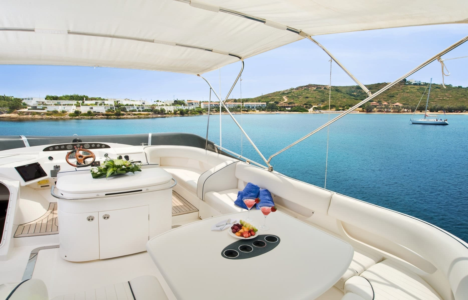 fast break motor yacht sundeck (3) min -  Valef Yachts Chartering - 0853