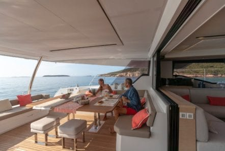 number one catamaran aft deck (2) min -  Valef Yachts Chartering - 0805