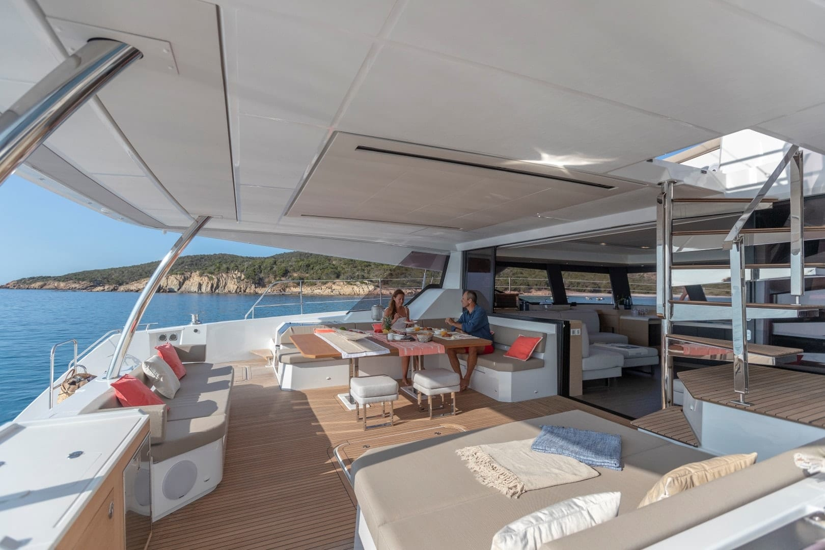 number one catamaran aft deck (3) min -  Valef Yachts Chartering - 0804