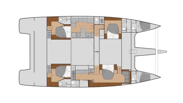 number one catamaran layout min -  Valef Yachts Chartering - 0823