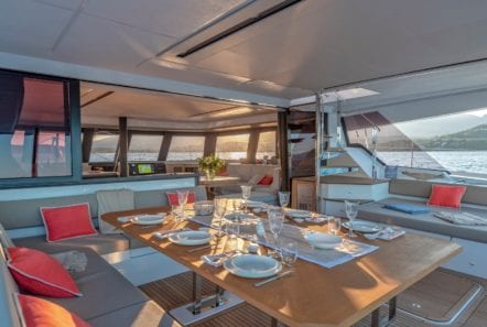 number one catamaran seating (2) min -  Valef Yachts Chartering - 0816