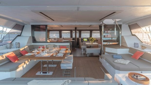 number one catamaran seating (3) min -  Valef Yachts Chartering - 0815