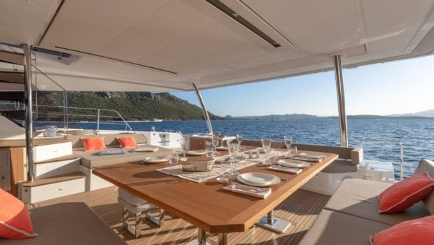 number one catamaran seating (4) min -  Valef Yachts Chartering - 0814