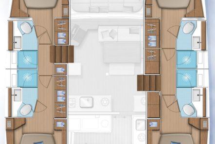 alice catamaran layout -  Valef Yachts Chartering - 0648