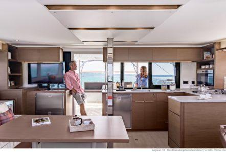 alice catamaran salon galley -  Valef Yachts Chartering - 0644