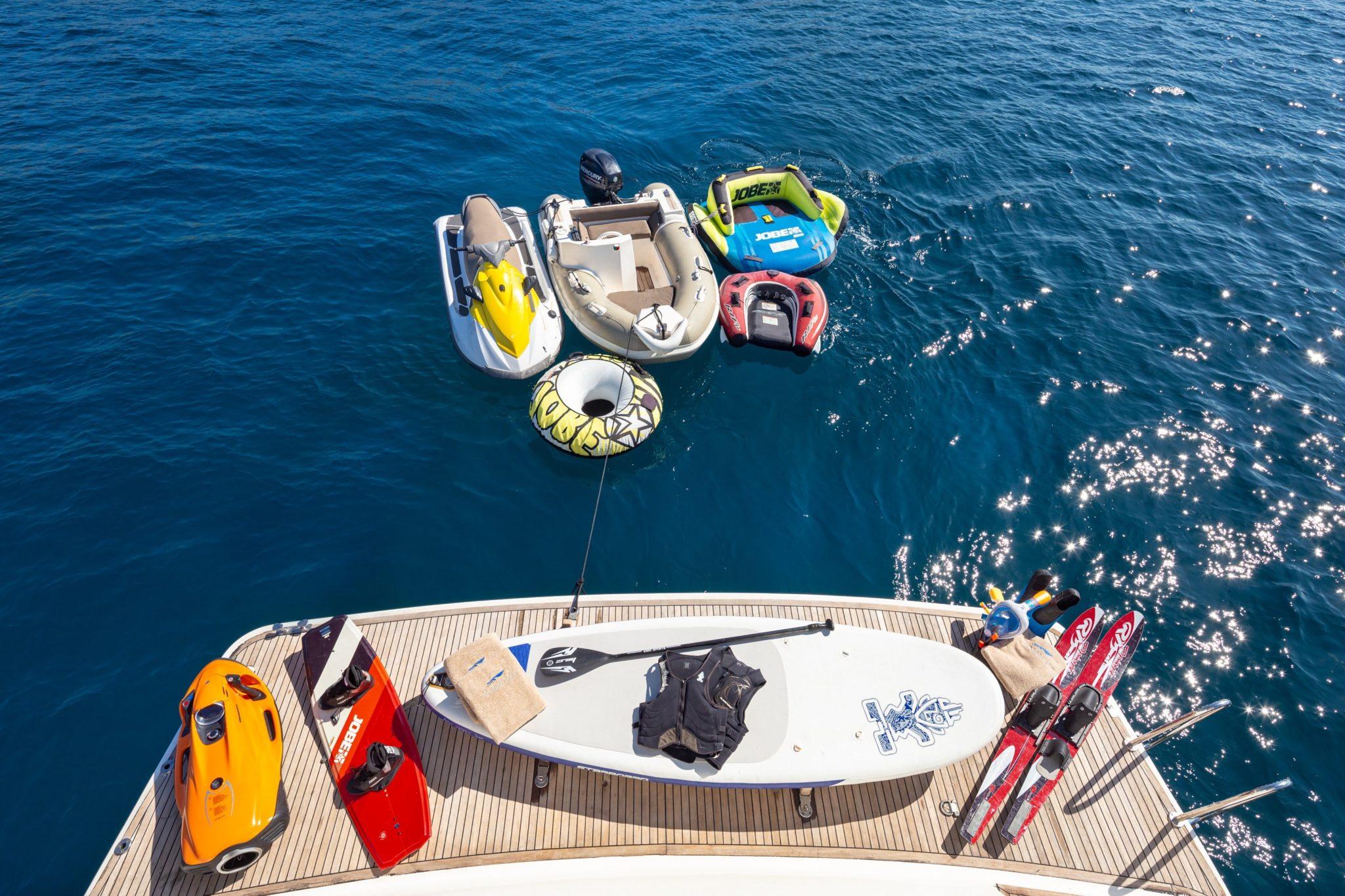 amoraki motor yacht swim platform toys -  Valef Yachts Chartering - 0720
