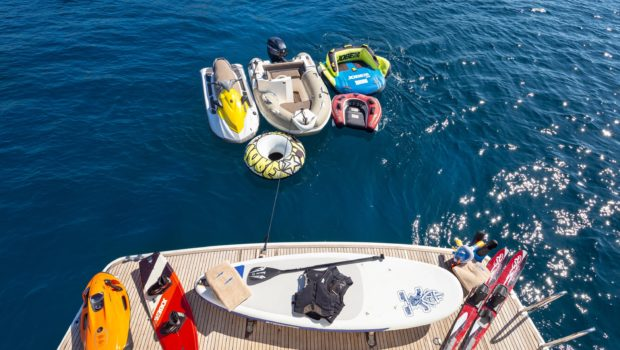 amoraki motor yacht swim platform toys -  Valef Yachts Chartering - 0728