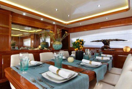 elvi motor yacht dining (1) min -  Valef Yachts Chartering - 0608