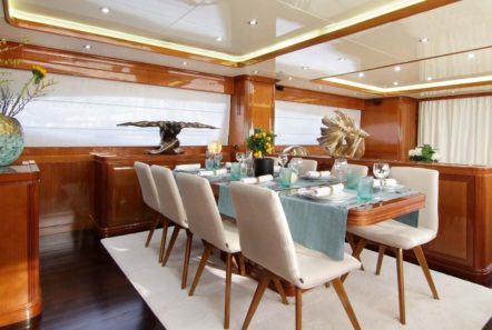 elvi motor yacht dining (3) min -  Valef Yachts Chartering - 0640