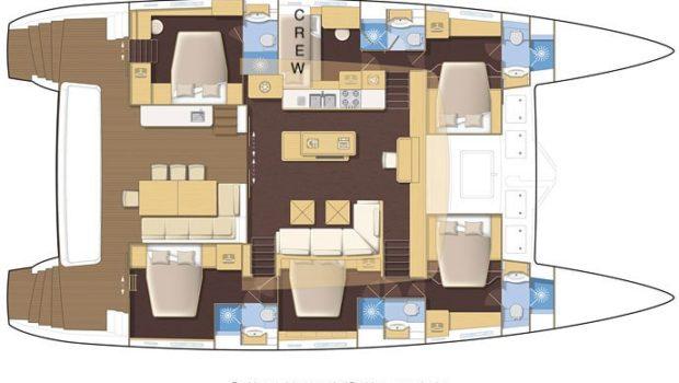 Valium 62 catamaran layout (3) min -  Valef Yachts Chartering - 0565