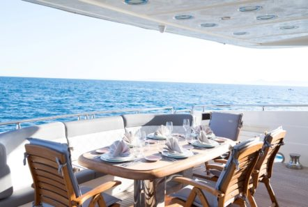 albator 2 aft deck table (4) min -  Valef Yachts Chartering - 0605