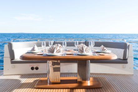 albator 2 aft deck table (7) min -  Valef Yachts Chartering - 0604