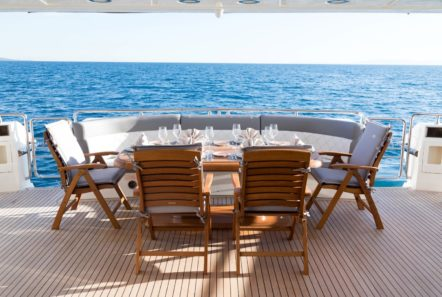 albator 2 aft deck table (8) min -  Valef Yachts Chartering - 0603