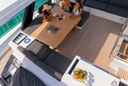 galux one catamaran aerial min -  Valef Yachts Chartering - 0477