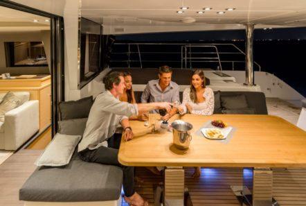galux one catamaran aft deck (1) min -  Valef Yachts Chartering - 0476