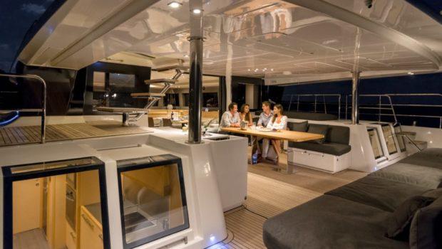 galux one catamaran aft deck (2) min -  Valef Yachts Chartering - 0475