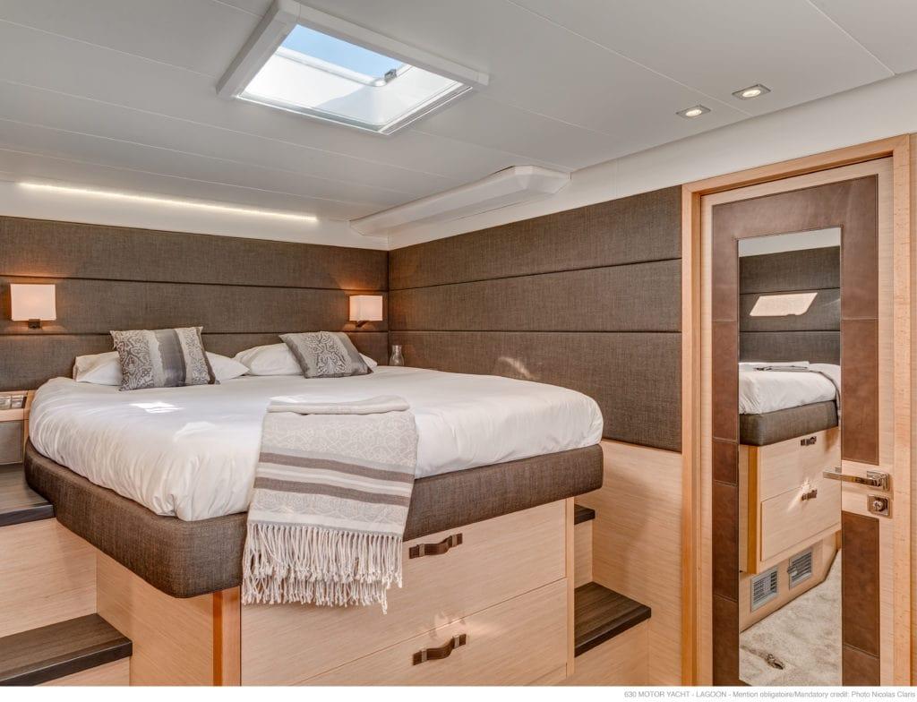 galux one catamaran cabins (7) min -  Valef Yachts Chartering - 0466