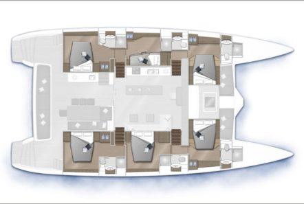 galux one catamaran layout (2) min -  Valef Yachts Chartering - 0486