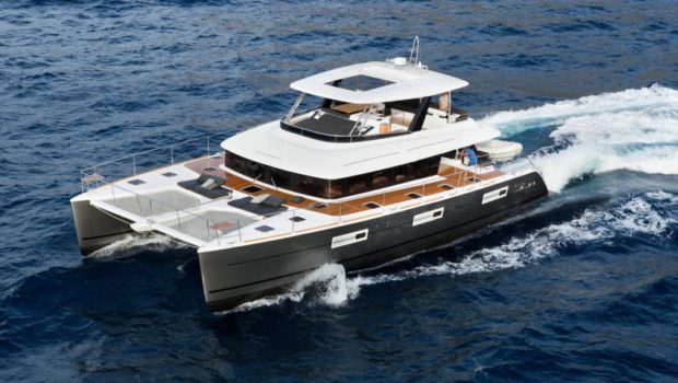 galux one catamaran main profile lagoon min -  Valef Yachts Chartering - 0482