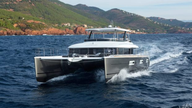 galux one catamaran under way min -  Valef Yachts Chartering - 0483