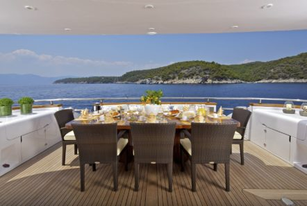 marnaya motor yacht aft dining1 min -  Valef Yachts Chartering - 0513