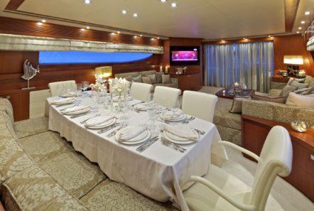 marnaya motor yacht dining min -  Valef Yachts Chartering - 0524