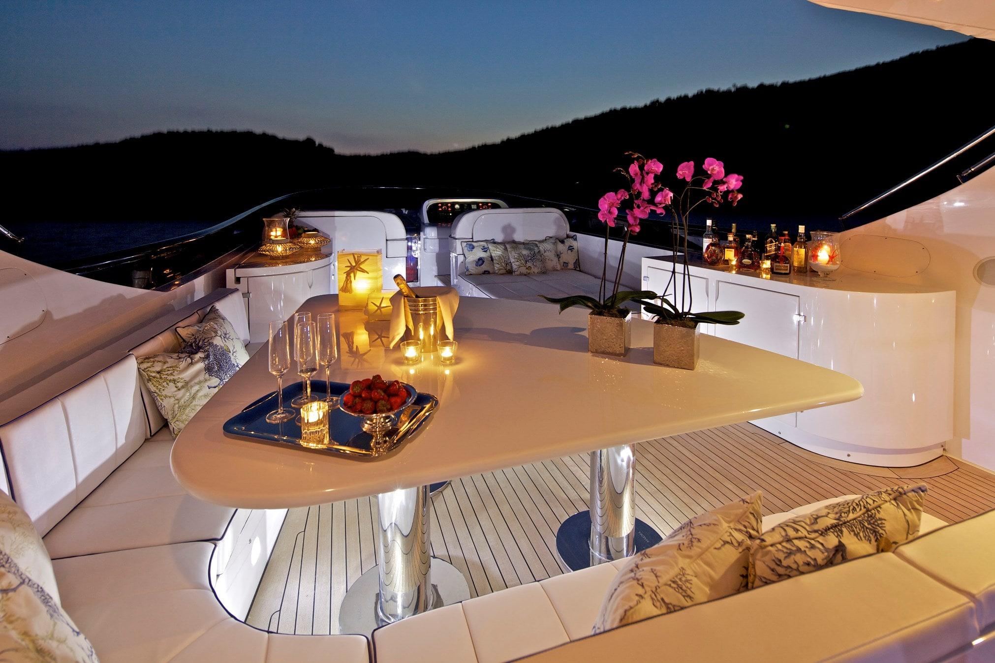 marnaya motor yacht fly dining min -  Valef Yachts Chartering - 0516