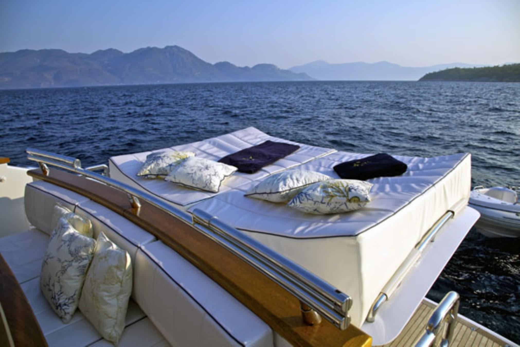 marnaya motor yacht sunbathing min -  Valef Yachts Chartering - 0502