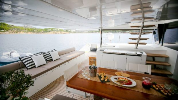 valium catamaran aft deck (12) min -  Valef Yachts Chartering - 0532