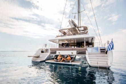 valium catamaran aft deck (2) min -  Valef Yachts Chartering - 0542